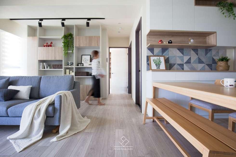 寧靜空間:  書房/辦公室 by 極簡室內設計
