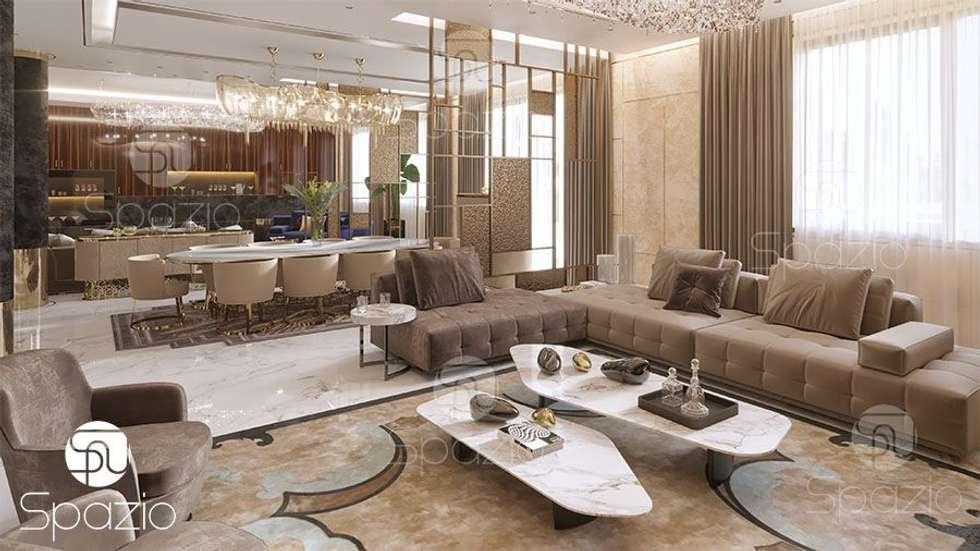modern Living room by Spazio Interior Decoration LLC