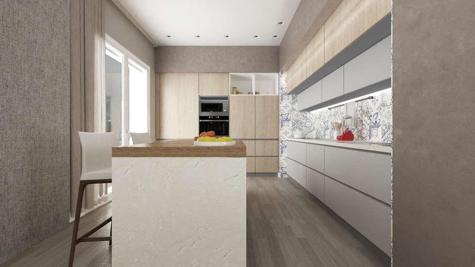 CASA AV: Cucina attrezzata in stile  di De Vivo Home Design
