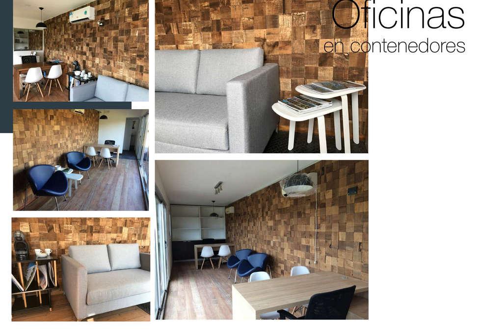 OFICINAS: Estudios y oficinas de estilo industrial por MARIAMOURATOGLOU