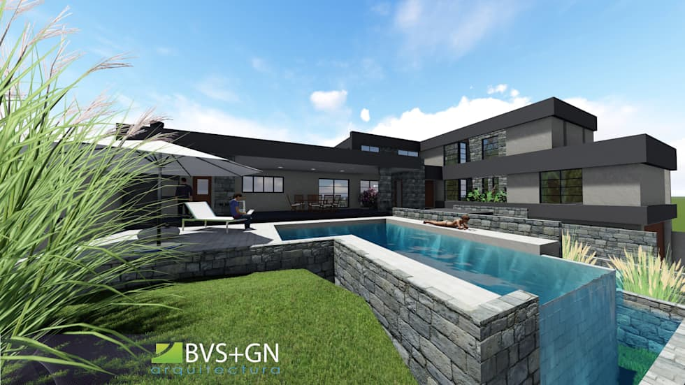 VIVIENDA VB: Casas unifamiliares de estilo  por BVS+GN ARQUITECTURA