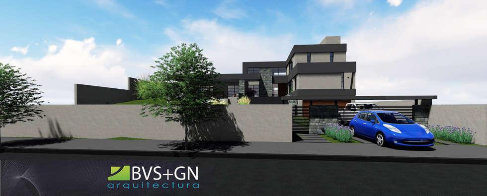 VIVIENDA VB: Casas de estilo moderno por BVS+GN ARQUITECTURA