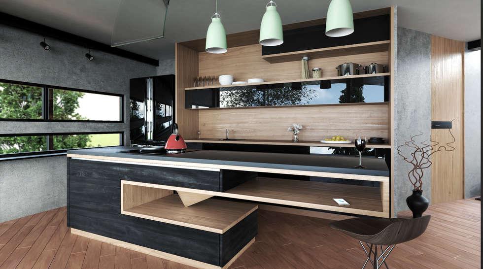 Cocina moderna: cocinas integrales de estilo por adrede diseño | homify