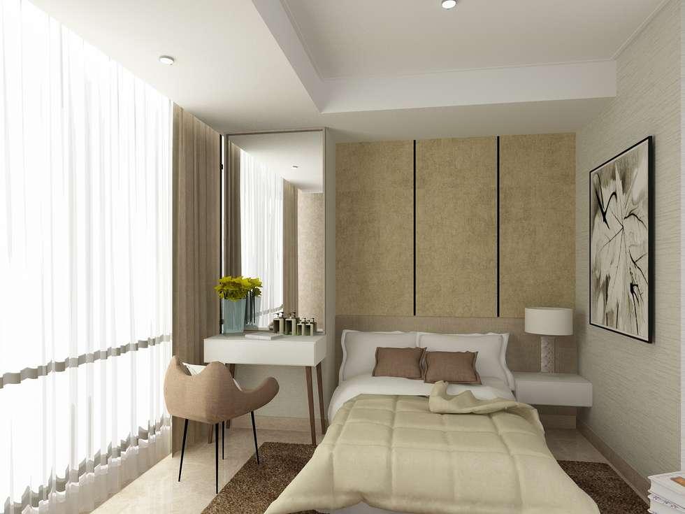 BEDROOM 02-ASCCOT APARTMENT, KUNINGAN-JAKARTA:  Kamar Tidur by spacious.interiordnb