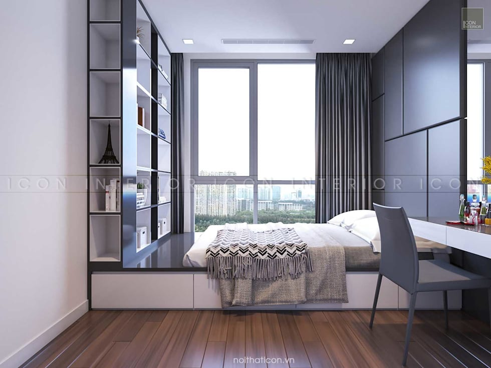 Vinhomes Central Park - Park 2:  Phòng ngủ by ICON INTERIOR