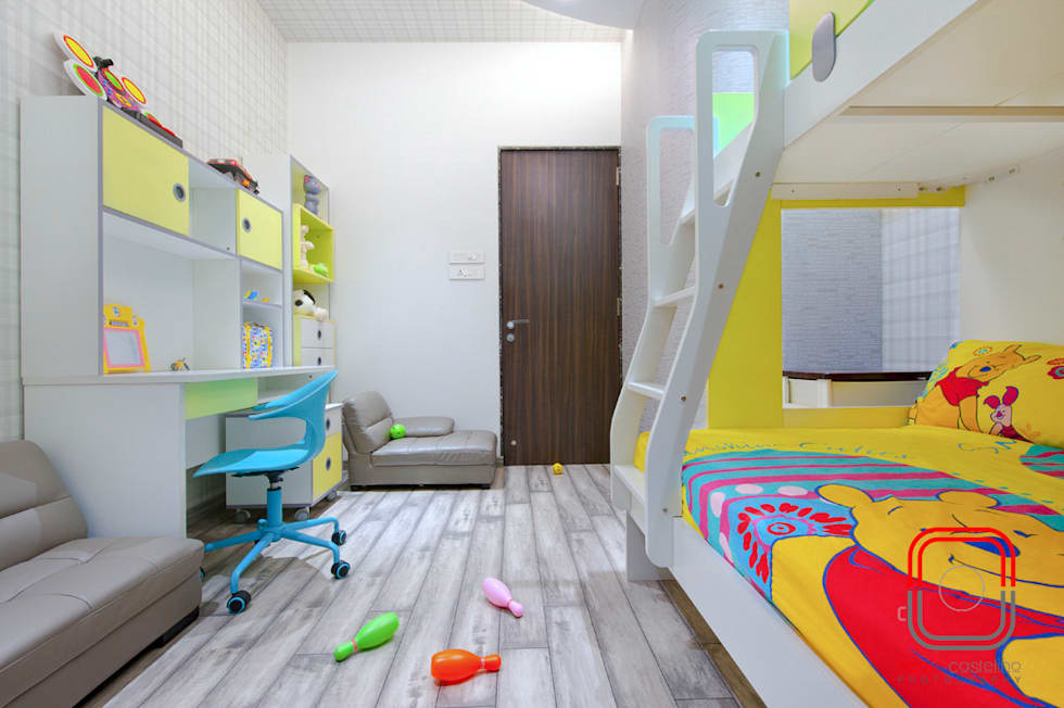 Juhu Residence: modern Nursery/kid's room by neale castelino Photography