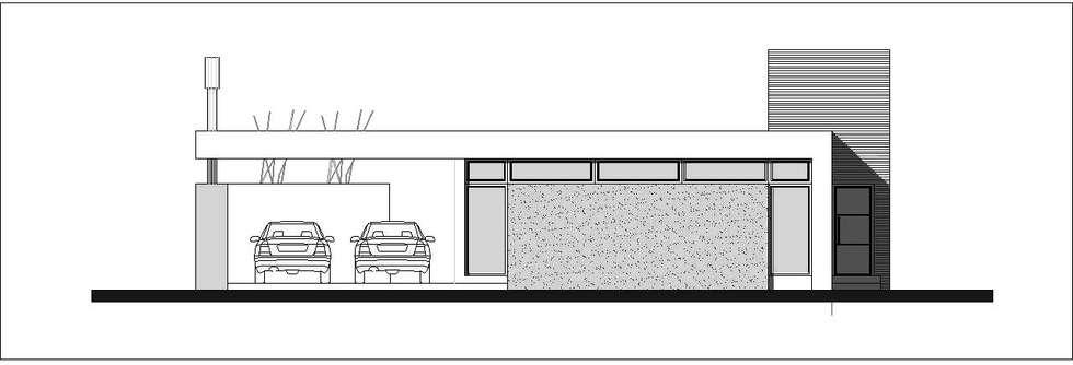Fachada de Frente: Casas unifamiliares de estilo  por I.S. ARQUITECTURA