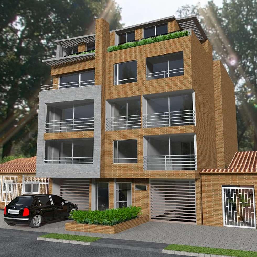 Fachada Principal: Casas de estilo moderno por MSA Arquitectos