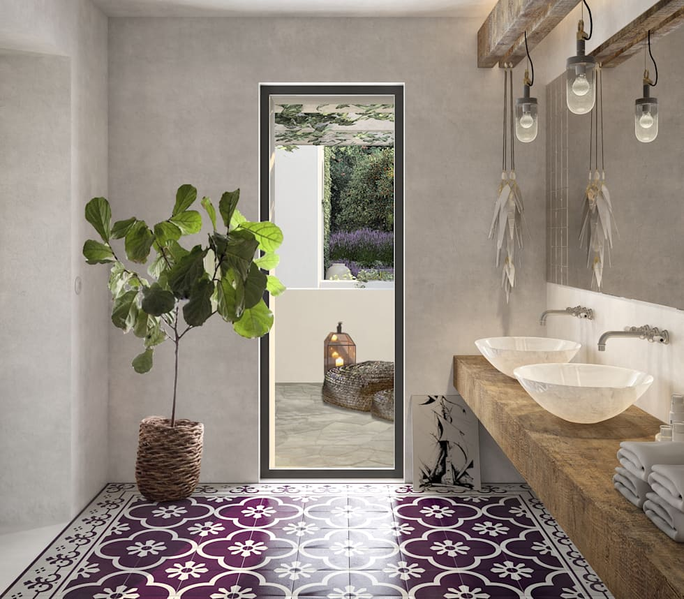 Idee arredamento casa interior design homify for Bagno in stile mediterraneo
