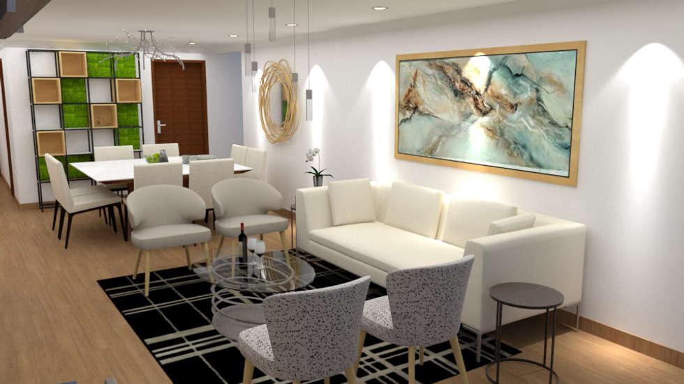 Dise o sala comedor salas recibidores de estilo for Diseno de interiores sala de estar comedor
