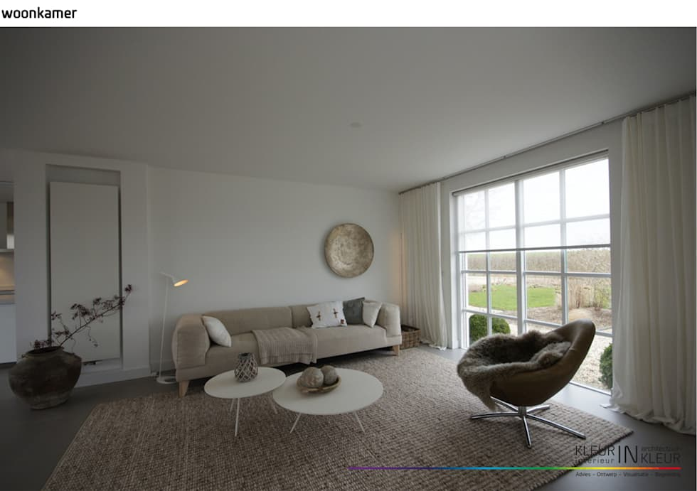Minimalistisch interieur minimalistische woonkamer door