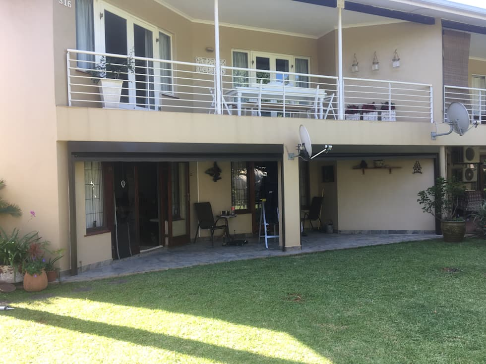 Fabric Awnings-Slide Track with Somfy motorisation:  Patios by Casablinds
