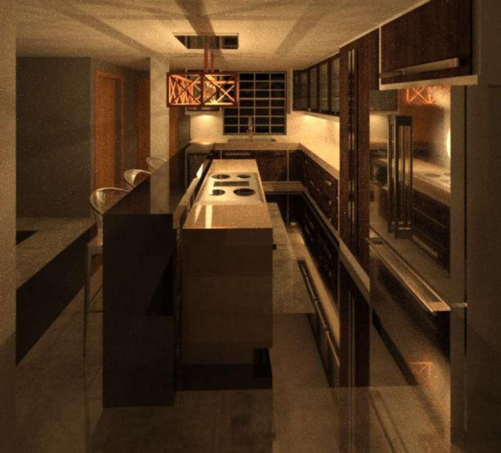ESPACIO DE COCINA: Cocinas de estilo  por ESTUDIO KULUMAK