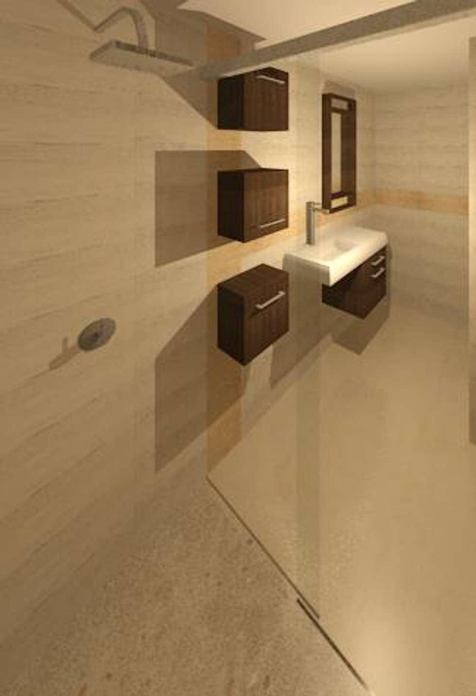 BAÑO PRINCIPAL: Baños de estilo moderno por ESTUDIO KULUMAK