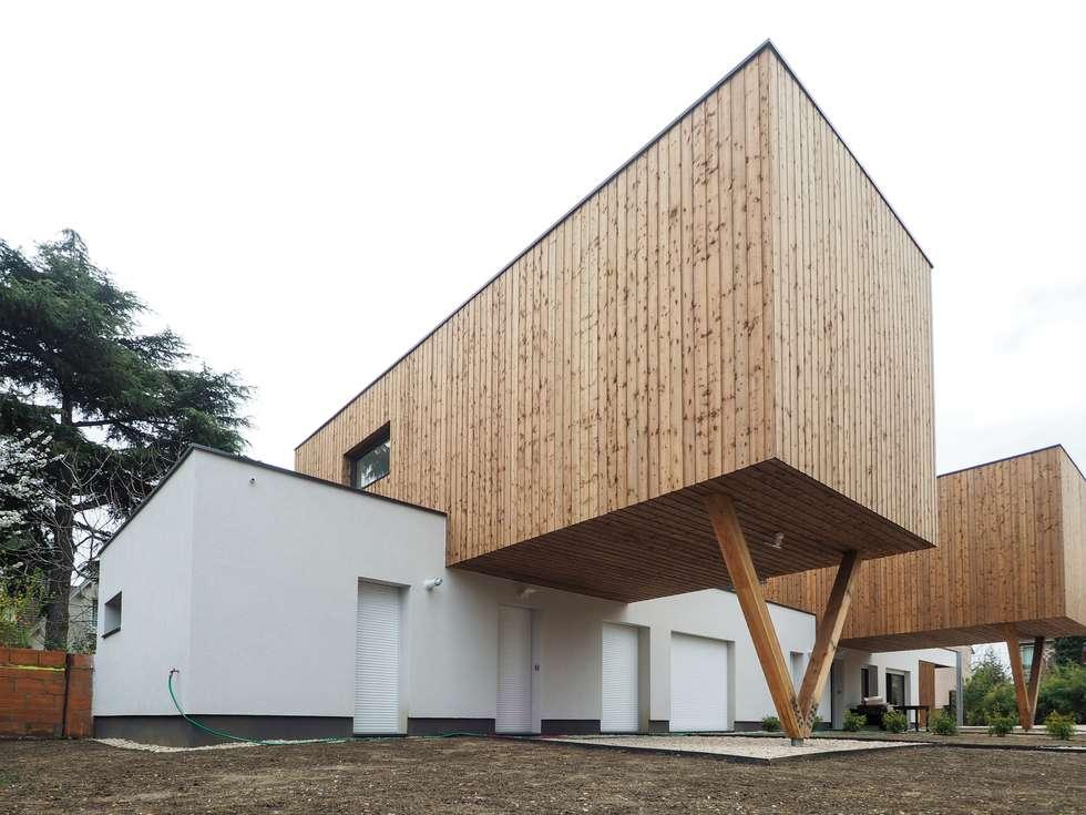 2 maisons contemporaines à Epinay sur Seine: Maison individuelle de style  par Fabrice Commercon