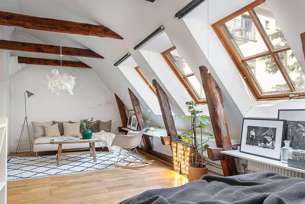 Estar estilo Bohemio o Boho Chic: Livings de estilo moderno por A3 Arq. Aliro Ramos