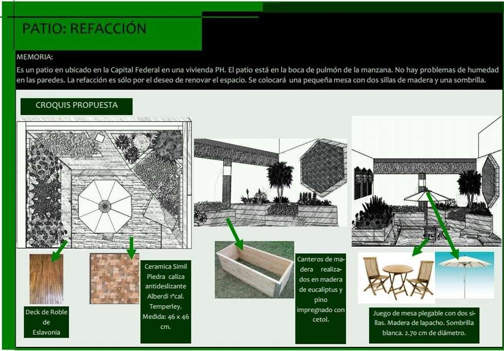 Propuesta: Jardines con piedras de estilo  por Estudio Carmesí. Diseño y Decoración