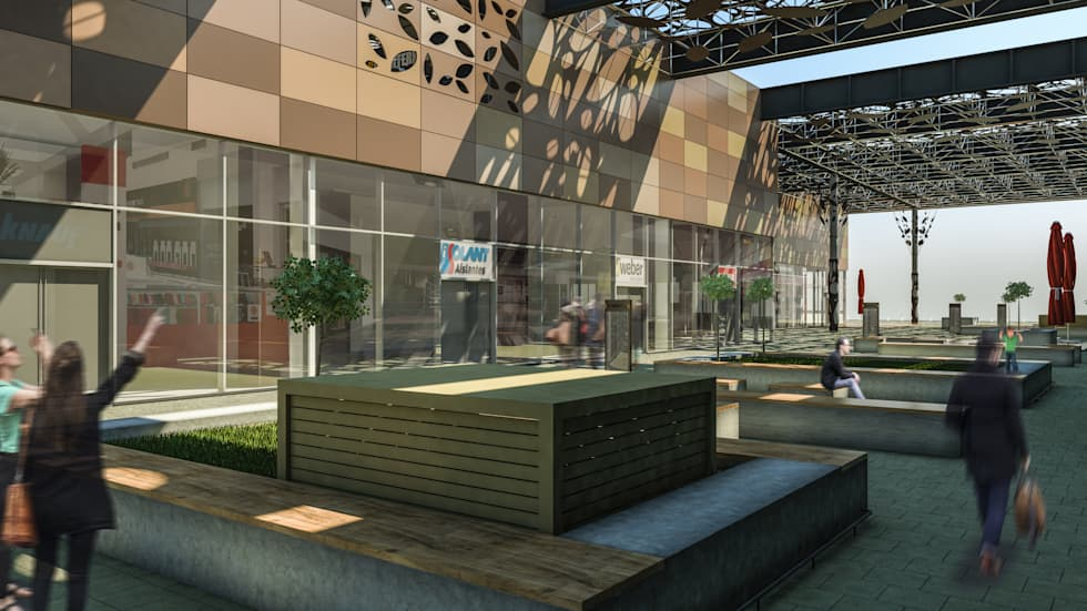 Camara 5 - Vista patio: Shoppings y centros comerciales de estilo  por DUSINSKY S.A.