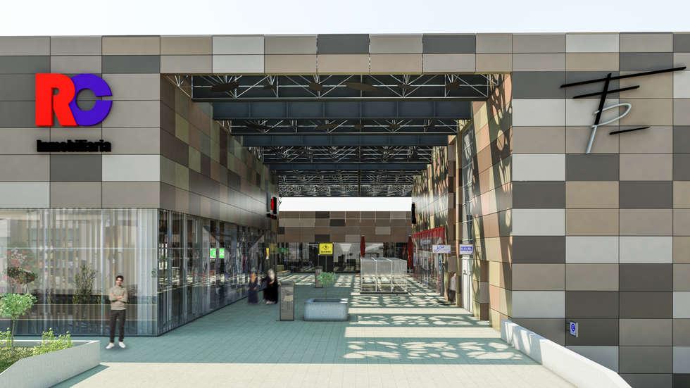 Camara 17 - Acceso secundario: Shoppings y centros comerciales de estilo  por DUSINSKY S.A.