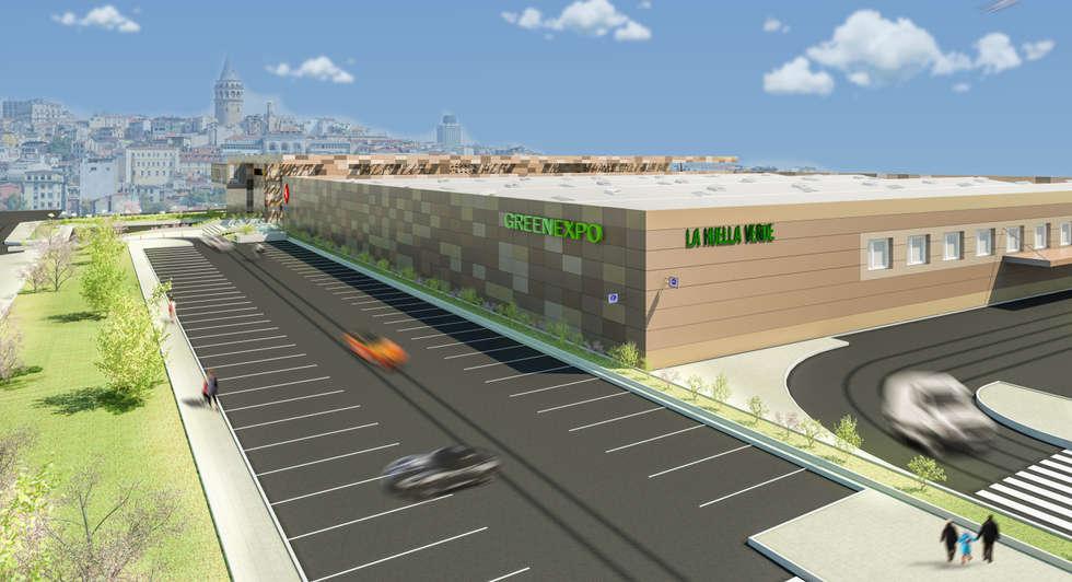 Camara 20 - Volumenes: Shoppings y centros comerciales de estilo  por DUSINSKY S.A.