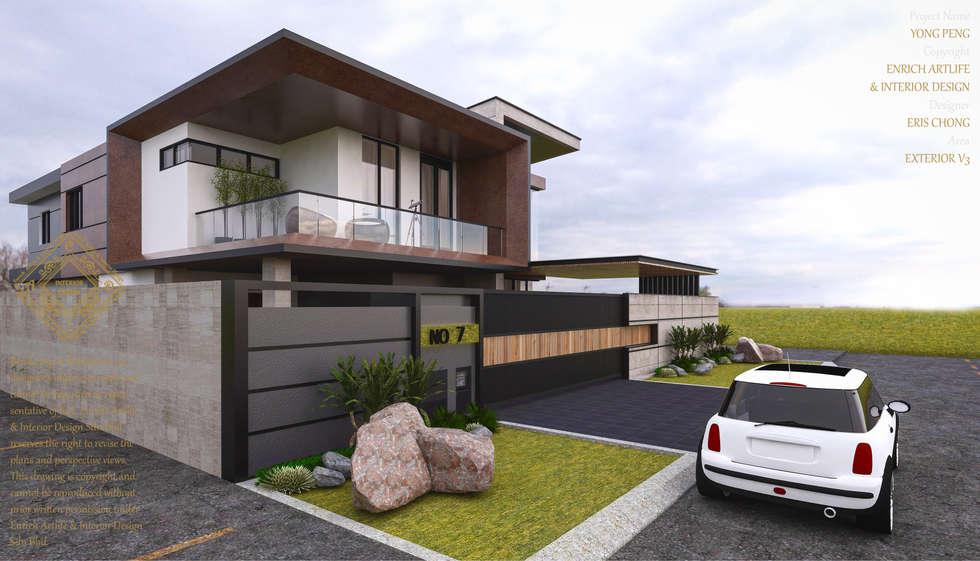 Bungalow Design  Yong Peng Johor Bahru,Malaysia: Modern Houses By Enrich  Artlife U0026