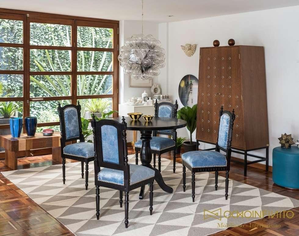 COMEDOR 2 - OCHOINFINITO : Comedores de estilo ecléctico por OCHOINFINITO Mobiliario - Interiorismo