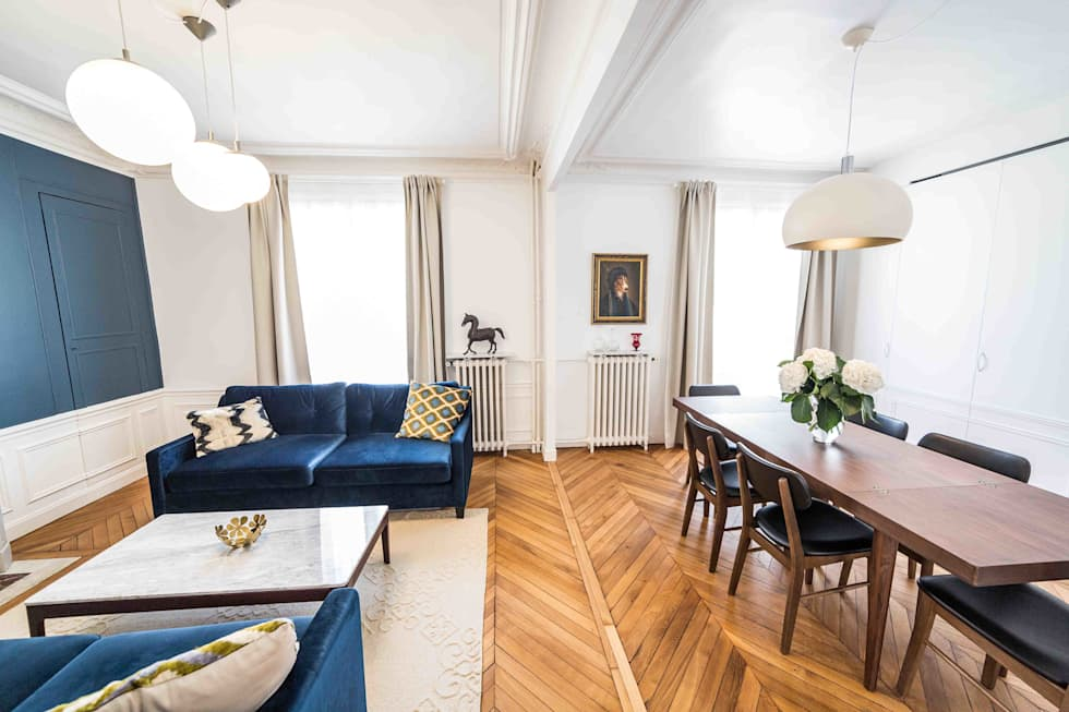 Rénovation Du0027un Appartement Haussmannien: Salle à Manger De Style De Style  Moderne Par