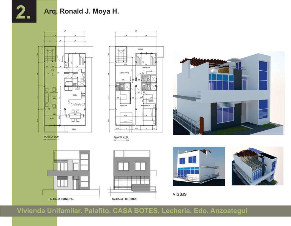 Casa Unifamiliar: Casas unifamiliares de estilo  por Arquigroup
