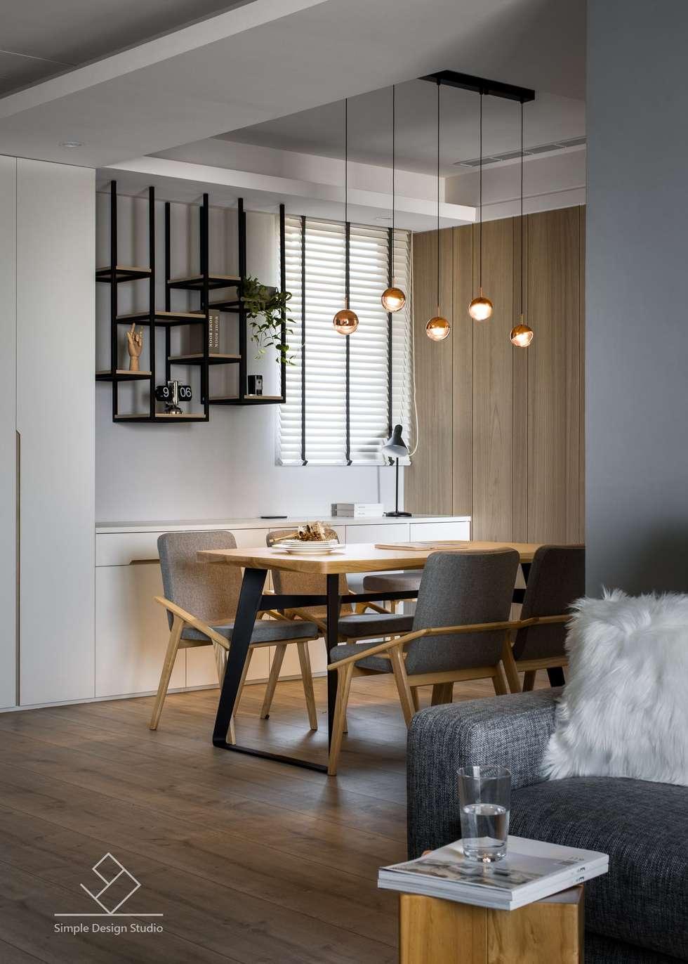 餐吊燈:  餐廳 by 極簡室內設計