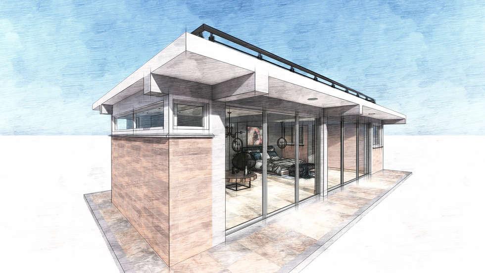 Refugio Balcazar: Casas de estilo minimalista por Conceptual Studio ARQUITECTUR
