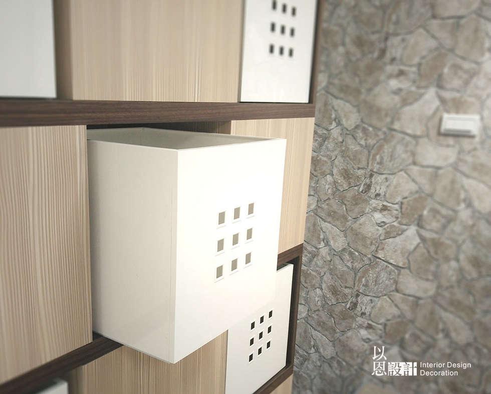 收納格櫃:  牆面 by 以恩設計