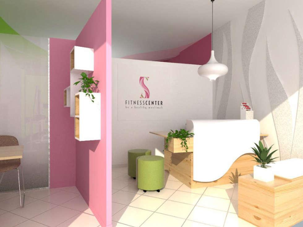 Design Interior S Fitness Studio Center:  Ruang Fitness by CV Rancangbangun Arsitama Buana