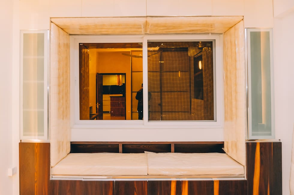 Bedroom Window with Seating - Origami Spaces(Origamispaces.com):  uPVC windows by Origami Space Design