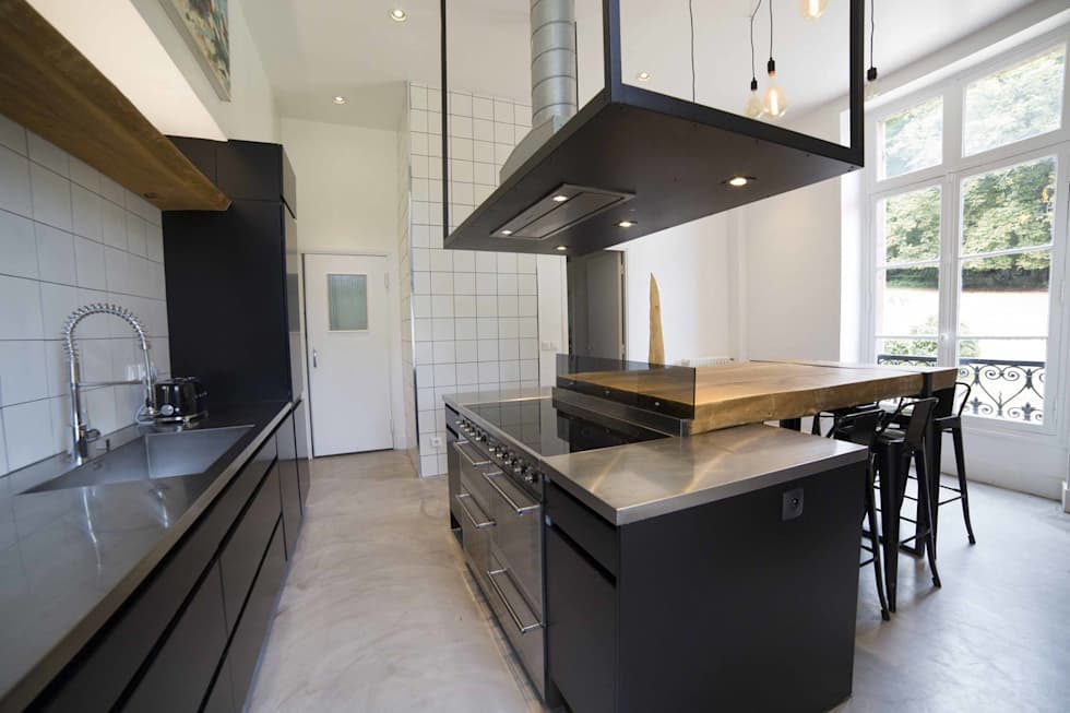 L'îlot centrale. : Cuisine de style de style Industriel par Clo - Architecture & Design