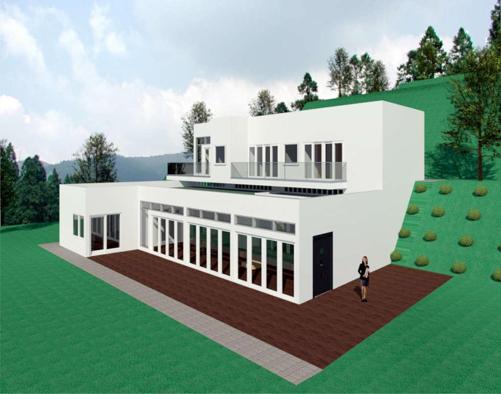 VU - 4 - VIVIENDA RESIDENCIAL UNIFAMILIAR : Casas de estilo moderno por RR Arquitecto