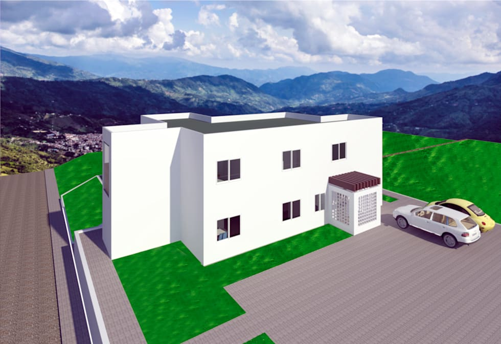 VU – 5 – VIVIENDA RESIDENCIAL UNIFAMILIAR: Casas de estilo moderno por RR Arquitecto