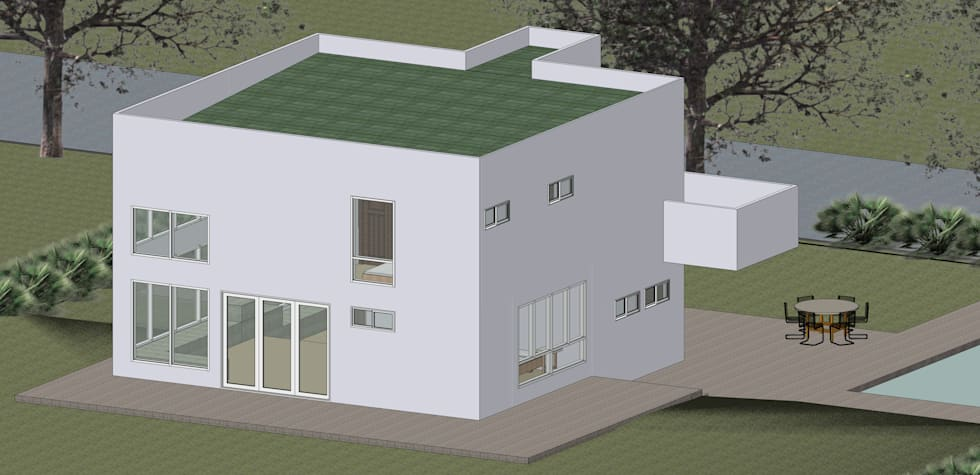 VU – 6 – VIVIENDA RESIDENCIAL UNIFAMILIAR: Casas de estilo moderno por RR Arquitecto