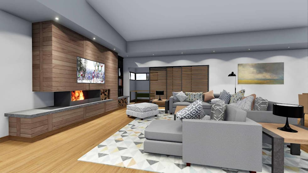 Mooikloof House: modern Living room by du Toit Arch
