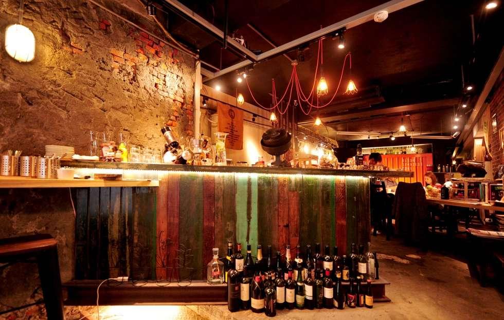 復古 吧台 設計:  酒吧&夜店 by 艾莉森 空間設計