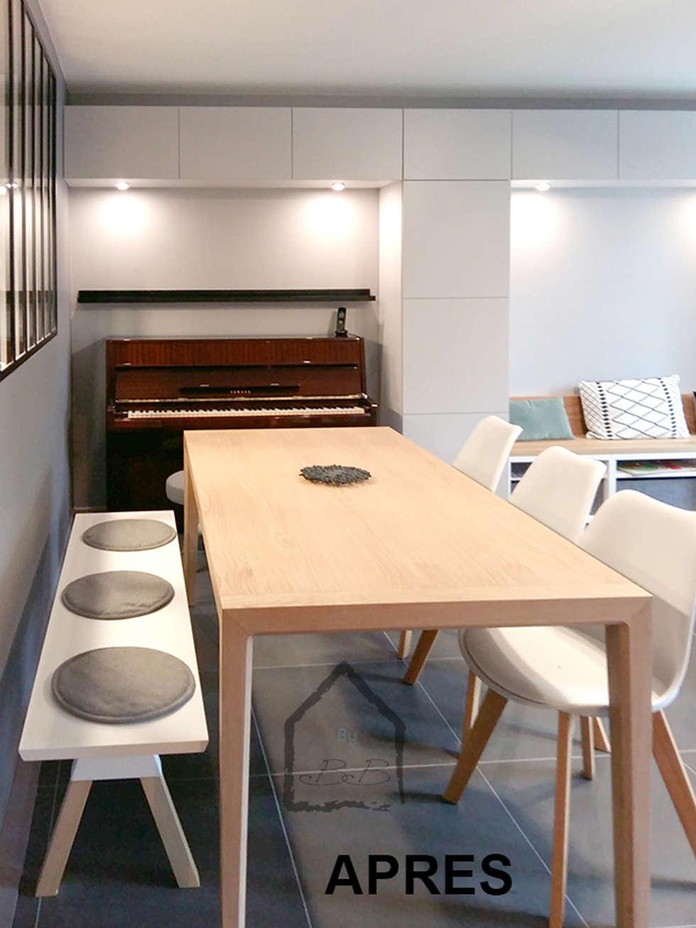 coin repas: Salle à manger de style de style Scandinave par By Benedicte Bergot Deco