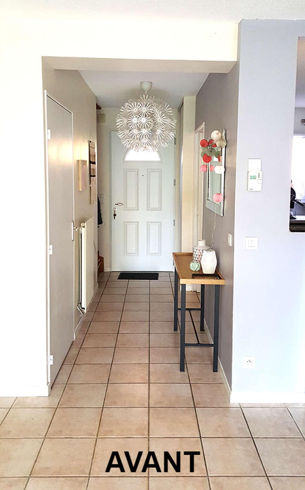 Entrée avant: Couloir et hall d'entrée de style  par By Benedicte Bergot Deco