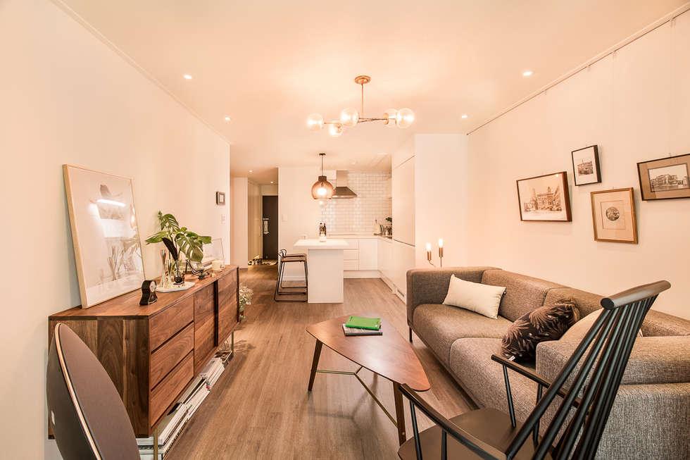 moderne Wohnzimmer von 봄디자인