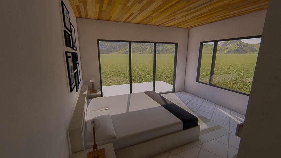 Vista de dormitorio principal: Dormitorios de estilo moderno por Tila Design