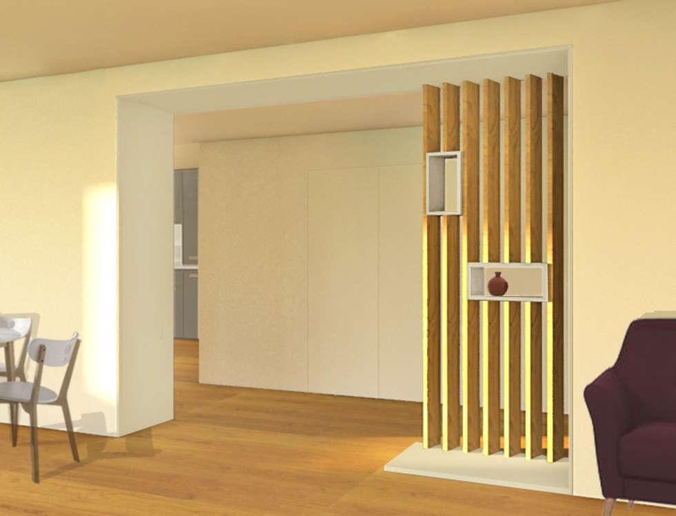 Aménagement d'une entrée: Couloir et hall d'entrée de style  par Design & Visual Concept