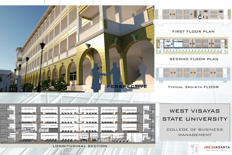 WEST Visayas College of Business and Management: classic Study/office by JREDiasanta Architectural Services