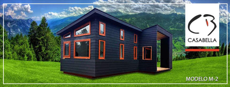 M-2: Casas prefabricadas de estilo  por Casabella