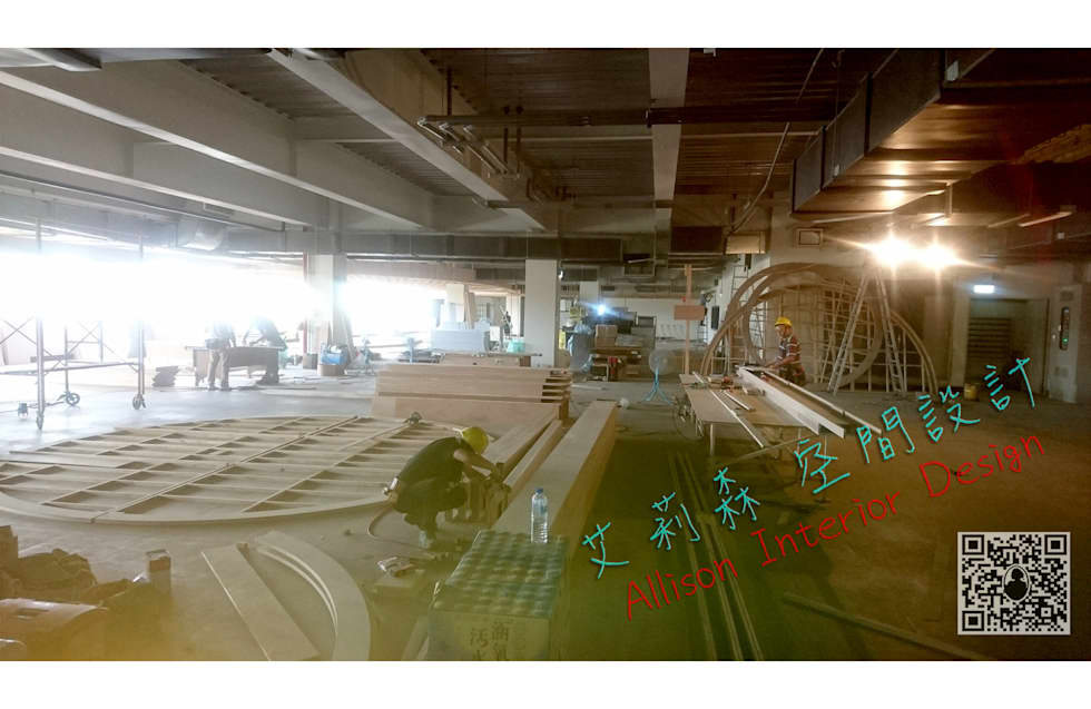 員工餐廳 施工造片:  餐廳 by 艾莉森 空間設計