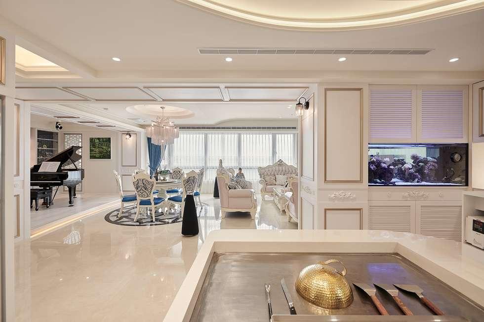 公共領域的串聯景致:  餐廳 by 趙玲室內設計