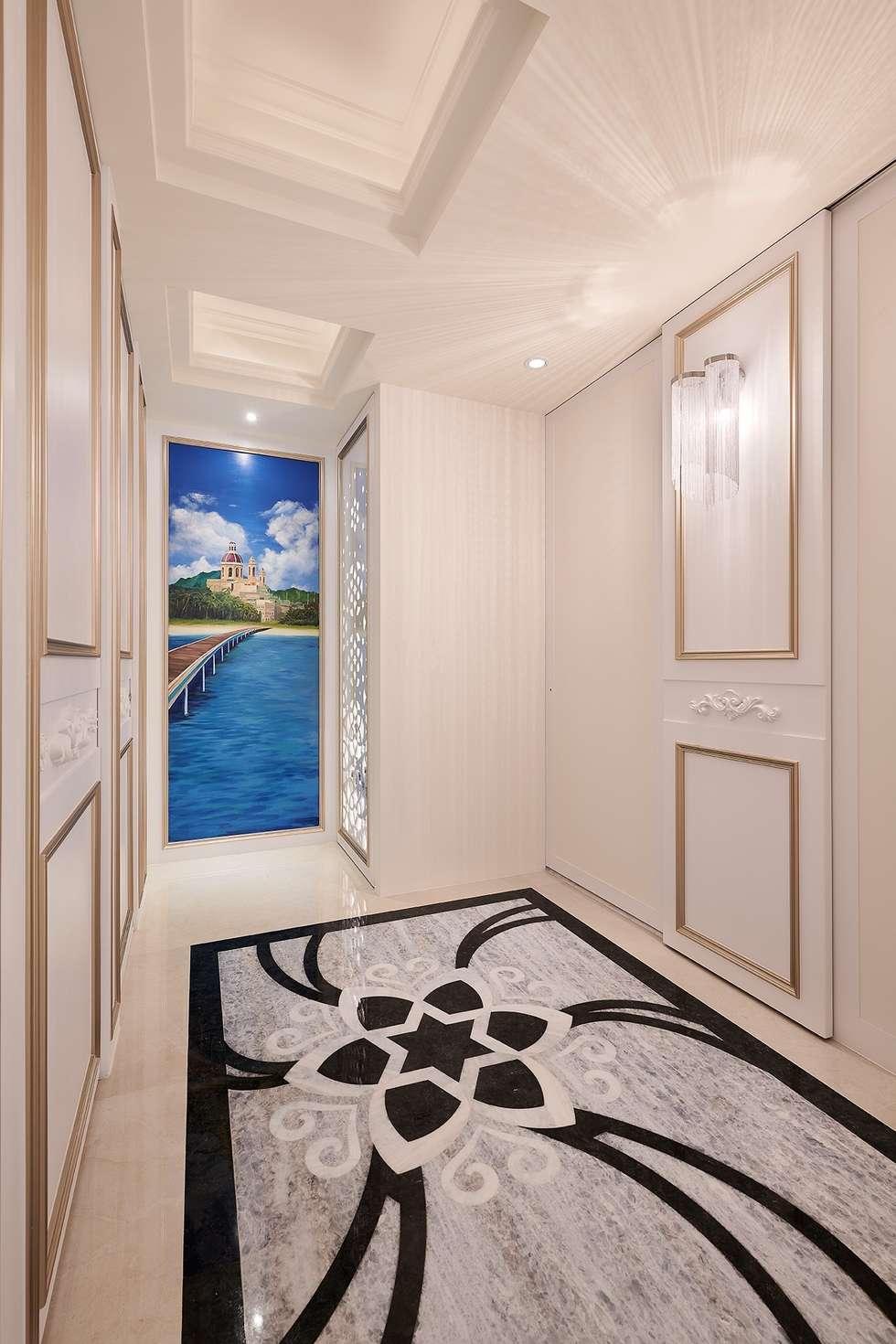 廊道的盡頭 公私領域的分界:  走廊 & 玄關 by 趙玲室內設計