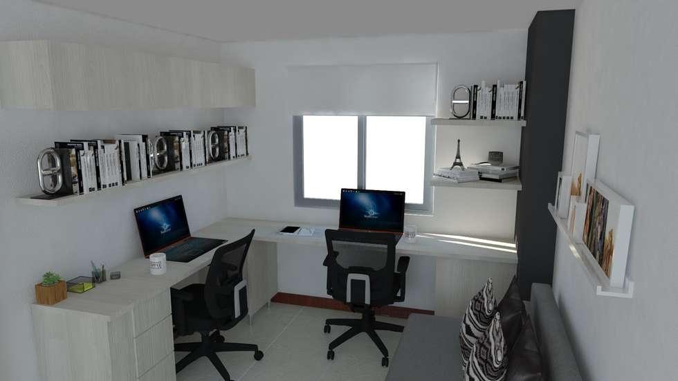 estudio : Estudios y despachos de estilo minimalista por Naromi  Design